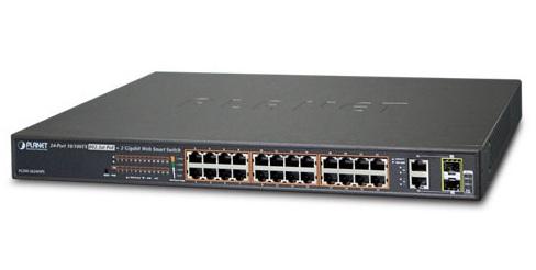 Planet FGSW-2624HPS - Switch 24xPoE + 2xTP/SFP - Przełączniki sieciowe